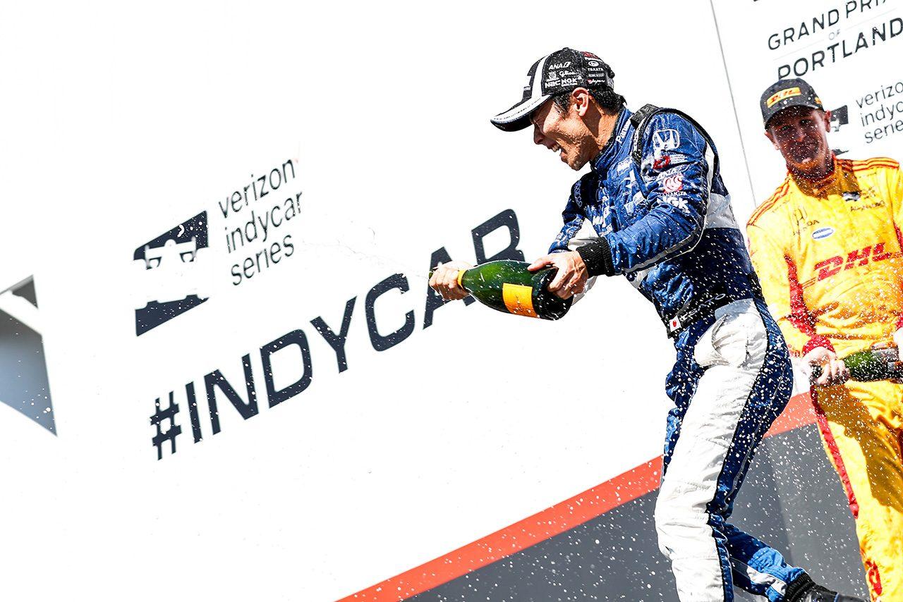 【速報】佐藤琢磨が2017年のインディ500以来となるインディカー3勝目を挙げる