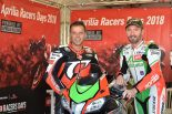 MotoGP | 元MotoGPライダーのビアッジとカピロッシが対決。ムジェロで『アプリリア・レーサーズ・デイ2018』が開催