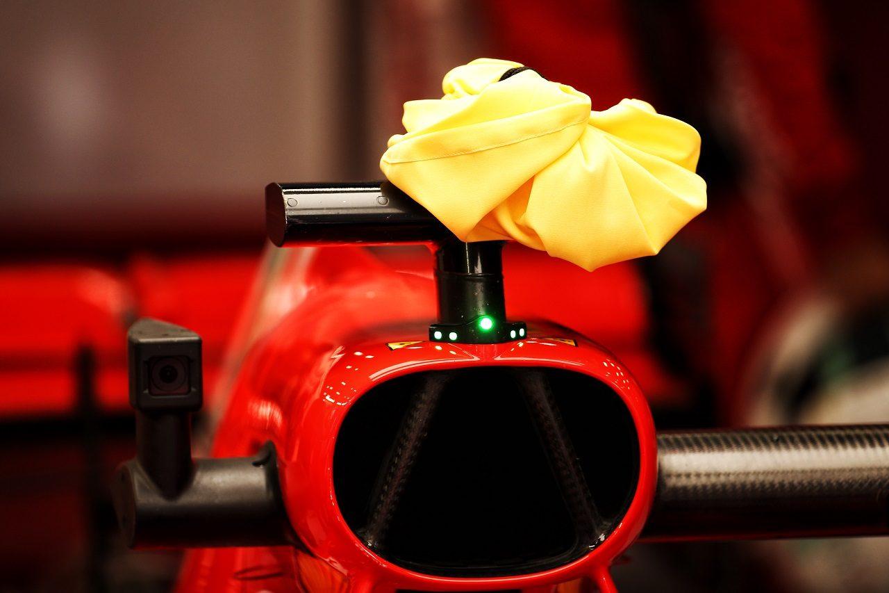 2018年F1ベルギーGP フェラーリ、カメラに冷却バッグを使用