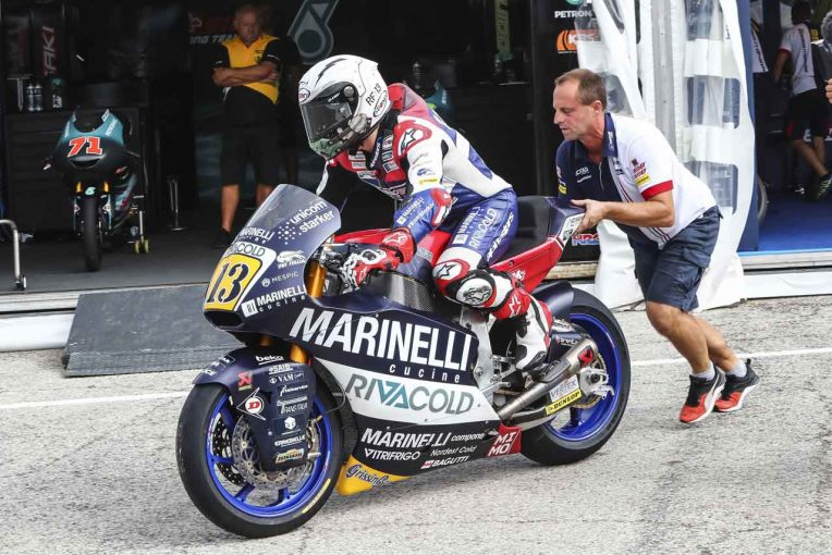 Moto2のロマーノ・フェナティが...