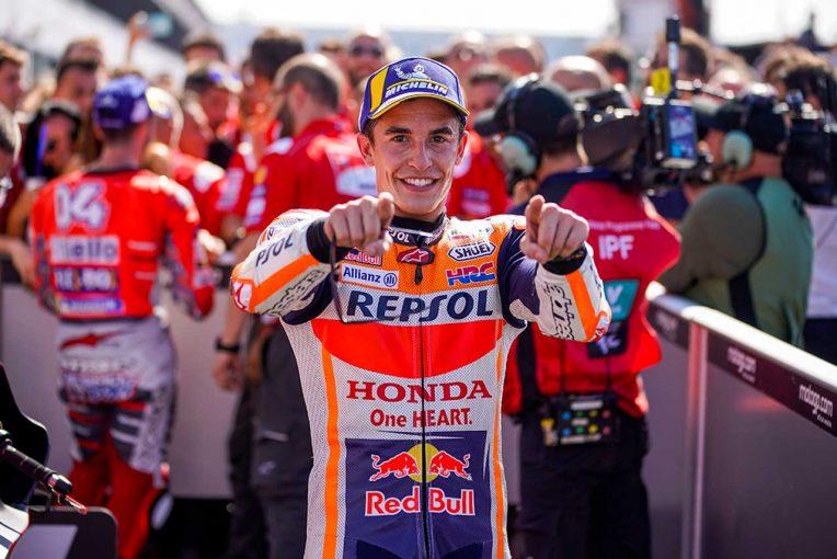 MotoGPサンマリノGPで2位表彰台を獲得したマルケス