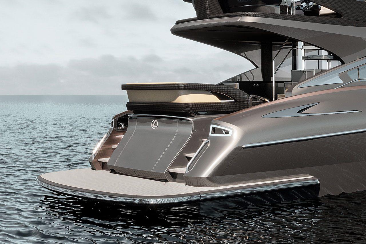 レクサスが概要を発表したラグジュアリーヨット『LY650』