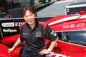 井原慶子は2016年、IMSAセブリング12時間でマツダ・プロトタイプをドライブした