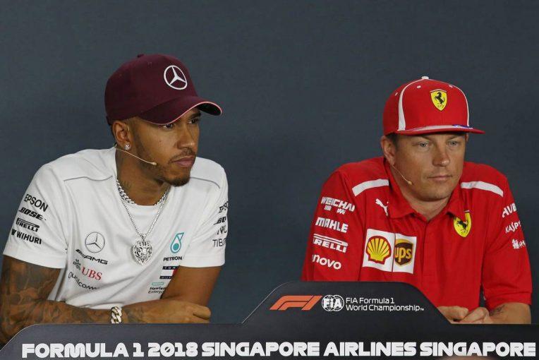 F1 | F1シンガポールGP木曜会見:ザウバーへの移籍が決まったライコネンにハミルトンも興味津々