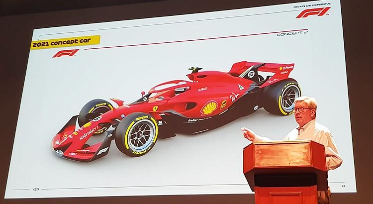 F1 | 2021年F1コンセプトカーの画像が限定公開。ロス・ブラウンがファン向け講演会で披露