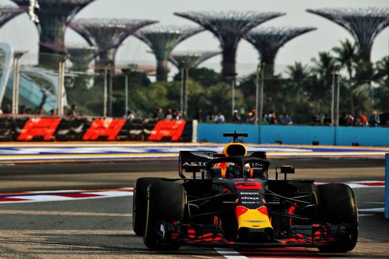 2018年F1第15戦シンガポールGP フリー走行1回目 ダニエル・リカルド(レッドブル)