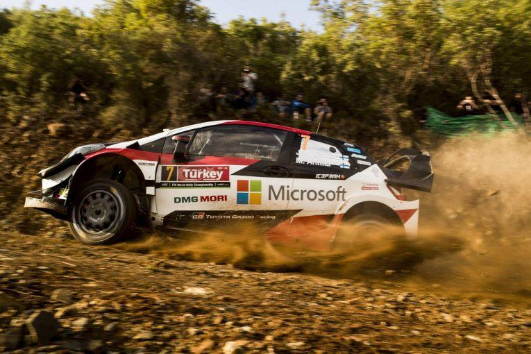 ラリー/WRC   WRC:トヨタ、厳しい路面のなか3台全車がデイ2完走。マキネン「タナクの最速タイムに勇気づけられた」
