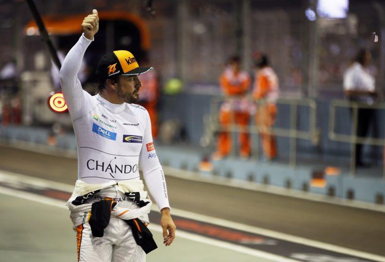 F1   アロンソ「予選11番手は完璧な結果。競争力が戻ってきた」:F1シンガポールGP土曜