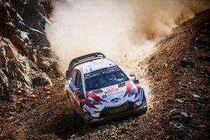 WRC3連勝を達成したオット・タナク(トヨタ・ヤリスWRC)