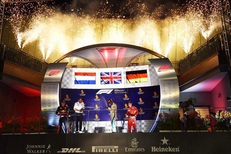 F1 | F1シンガポールGP決勝:ハミルトン完勝でベッテルとの差をさらにリード、トロロッソ・ホンダは苦戦