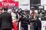 3位表彰台を獲得したヘイデン・パッドン(ヒュンダイi20クーペWRC)