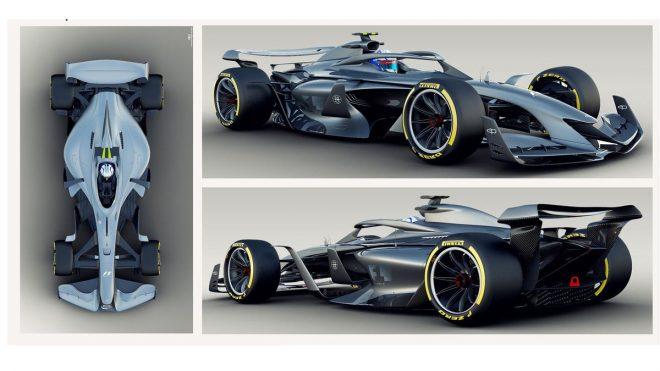 F1が発表した2021年F1コンセプトカーの画像