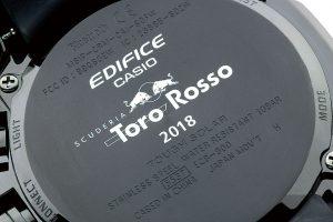 ECB-800TR-2AJRの裏蓋部分にはトロロッソのロゴがあしらわれる