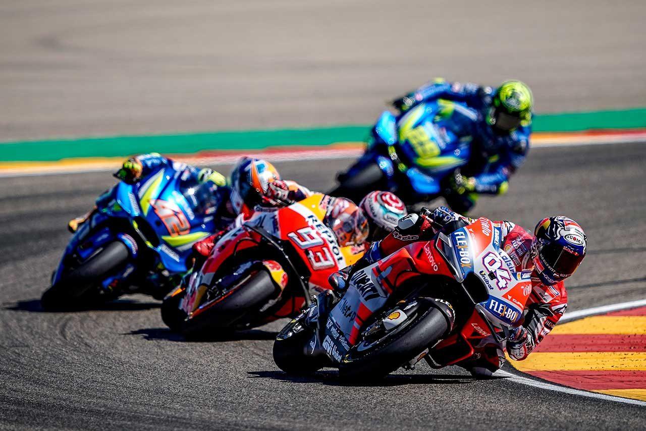 MotoGPアラゴンGPでマルケスと優勝を争ったドヴィツィオーゾ、終盤に「マルケスのペースダウンを期待した」