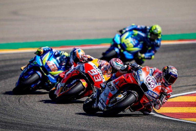 MotoGP | MotoGPアラゴンGPでマルケスと優勝を争ったドヴィツィオーゾ、終盤に「マルケスのペースダウンを期待した」