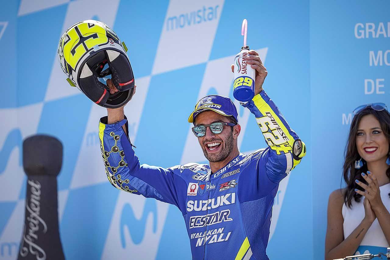 スズキ、MotoGPアラゴンGPで6戦ぶりの表彰台獲得。タイヤを温存する「戦略がうまくいった」とイアンノーネ