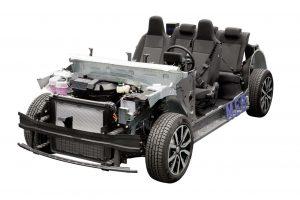 フォルクスワーゲンが初公開した電気自動車専用シャシー『モジュラー・エレクトリック・ドライブマトリックス(MEB)』