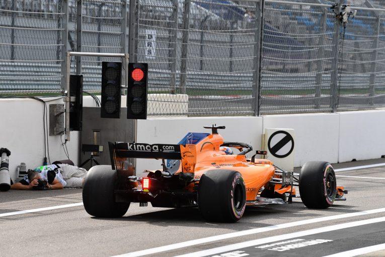F1   F1ロシアGPで5人がグリッド降格に。ノリスの貢献でアロンソが暫定16番グリッドを確保、レッドブル、トロロッソ・ホンダが続く