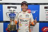 国内レース他 | 全日本F3:王座獲得の坪井翔「チームの支えで成長できた。今はホッとしています」