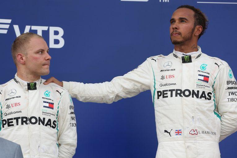F1 | ハミルトン「優勝してこれほど落ち込んだのは初めて」。ボッタスとの順位交代はチームの判断と明言:F1ロシアGP日曜