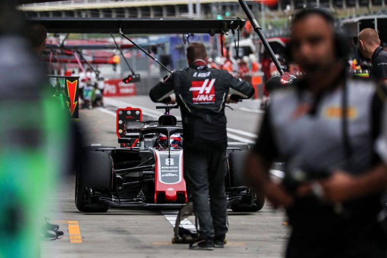 F1   F1 Topic:ロシアGP開幕前日、ハースで原因不明のタイヤ火災が発生