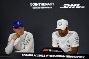 2018年F1第16戦ロシアGP チームオーダーにより2位となったバルテリ・ボッタス