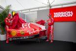 F1 | フェラーリF1、鈴鹿でSF71Hの新カラーリングを発表。フィリップモリスのプロジェクトロゴを掲載