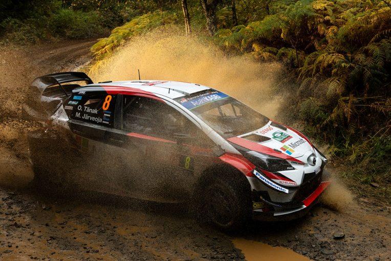 ラリー/WRC   WRC:第11戦ラリーGBのシェイクダウンでトヨタのタナクがクラッシュ。フォード勢最速