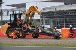 2018年F1第17戦日本GP FP3でクラッシュしたニコ・ヒュルケンベルグ