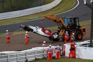 2018年F1第17戦日本GP マーカス・エリクソンが予選でクラッシュ
