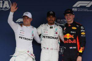 2018年F1第17戦日本GP ポールポジションを獲得したルイス・ハミルトン