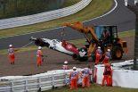 F1 | 【動画】エリクソンが予選Q1でクラッシュ。赤旗中断に/F1日本GP 予選