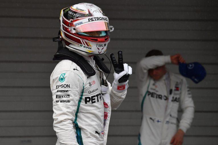 F1 | ハミルトンが80回目のポール獲得「大きなプレッシャーのなかでチーム全員がノーミス。最高の仕事ぶりを誇りに思う」:F1日本GP土曜