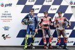 MotoGP | MotoGP:マルケス「レースに向けて時間を費やした」/タイGP予選トップ3コメント