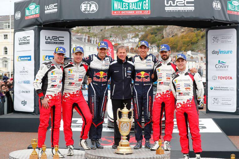 WRC第11戦ラリーGBでトヨタ勢は2台が表彰台を獲得した