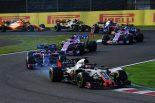2018年F1第17戦日本GP ハースのロマン・グロージャンは8位入賞