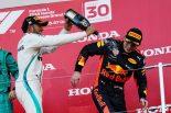 2018年F1第17戦日本GP ルイス・ハミルトン、マックス・フェルスタッペン
