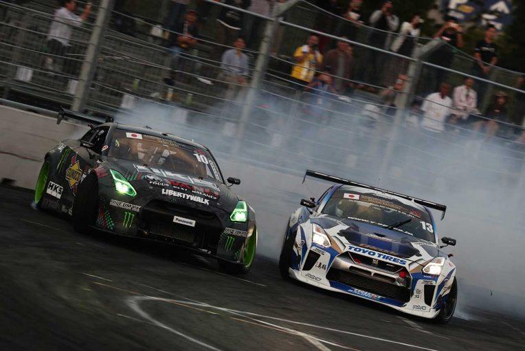 海外レース他   『FIA IDC 2018 Tokyo Drift』のPRイベントがSHIBUYA109で開催。ドリフトマシン展示も