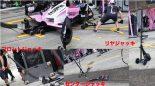 2018年F1日本グランプリ鈴鹿サーキット ピットストップのジャッキ