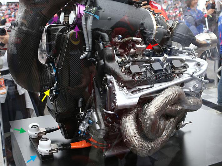 F1日本GP技術解説(1):パワー向上のため、2017年からコンプレッサーのレイアウトを大きく変更したホンダPU