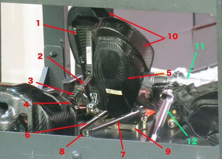 F1 | 【津川哲夫の私的F1メカ】なかなかお目にかかれない貴重なコクピット内部。現代F1のペダルまわりを詳細解説