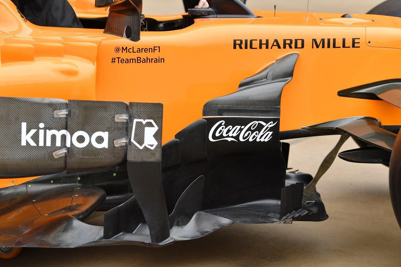 2018年F1第18戦アメリカGP 新スポンサー、コカ・コーラのロゴが飾られたマクラーレンMCL33