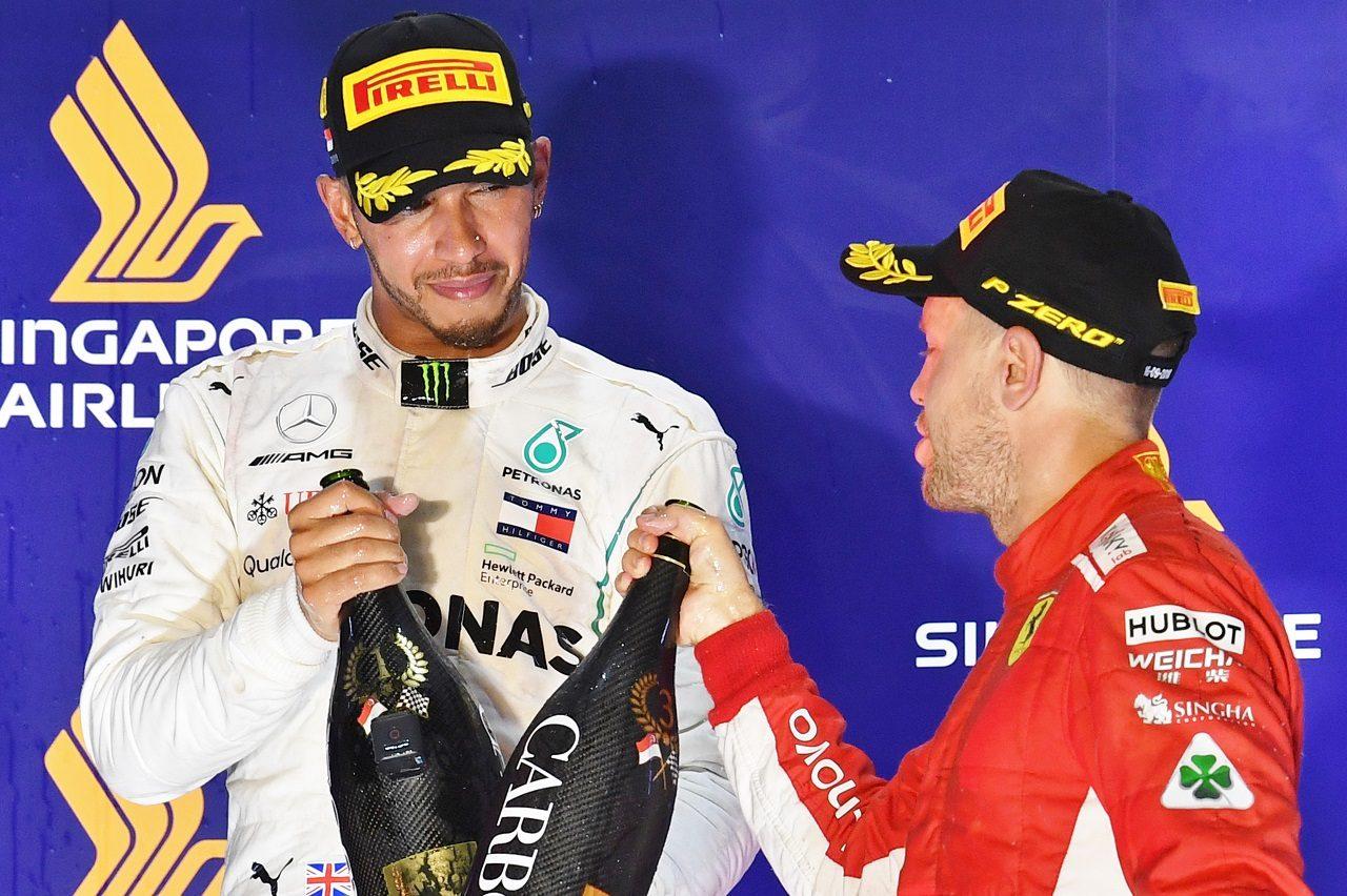 2018年F1王座を争うハミルトンとベッテル
