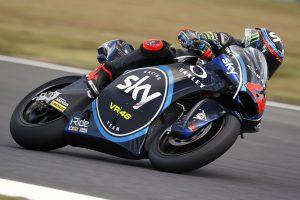 MotoGP日本GPのMoto2予選でポールポジションを獲得したフランチェスコ・バニャイア