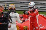 2018年F1第18戦アメリカGP予選 PPのルイス・ハミルトン、2番手セバスチャン・ベッテル