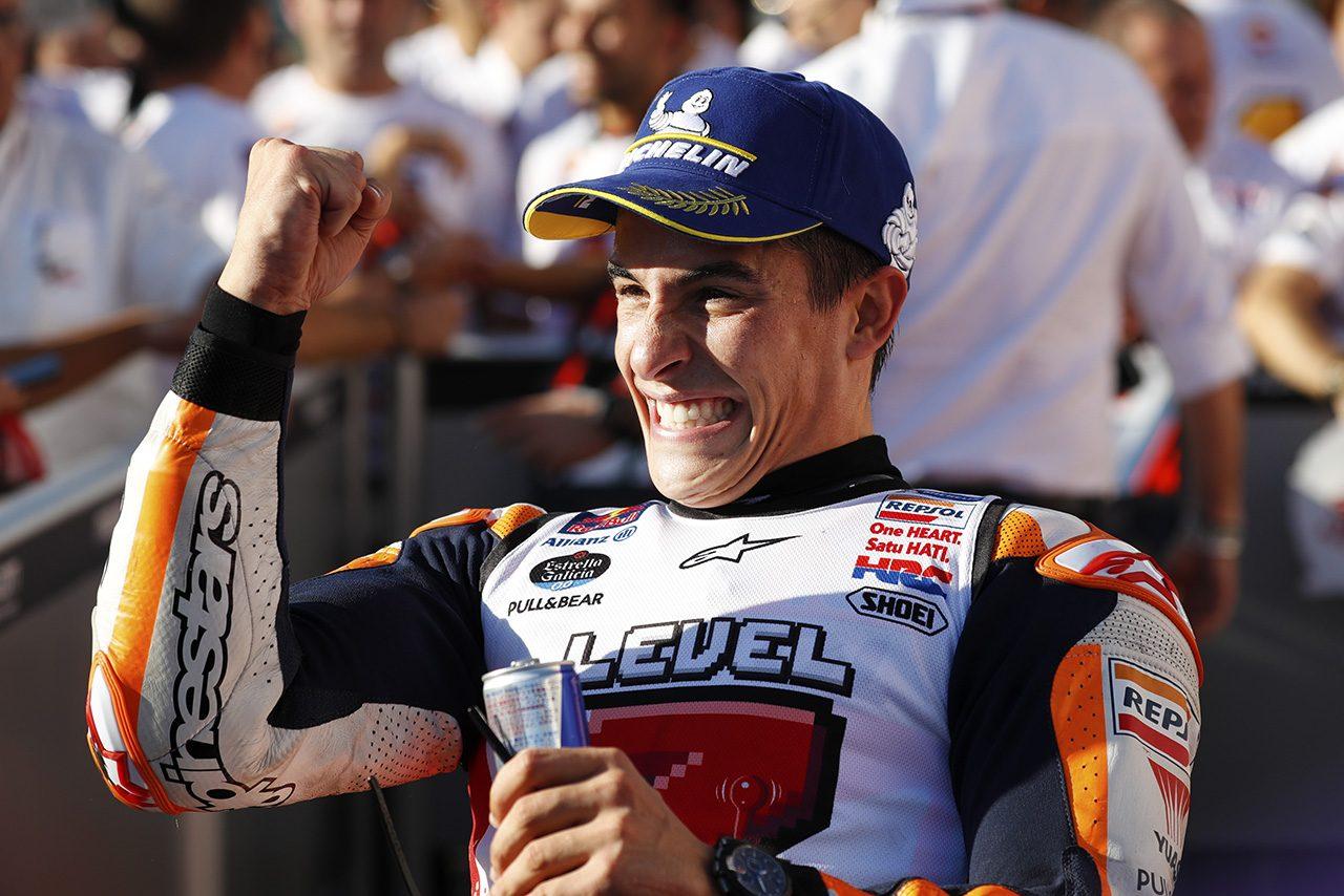 ホンダの母国レースでチャンピオンに輝いたマルク・マルケス(レプソル・ホンダ・チーム)