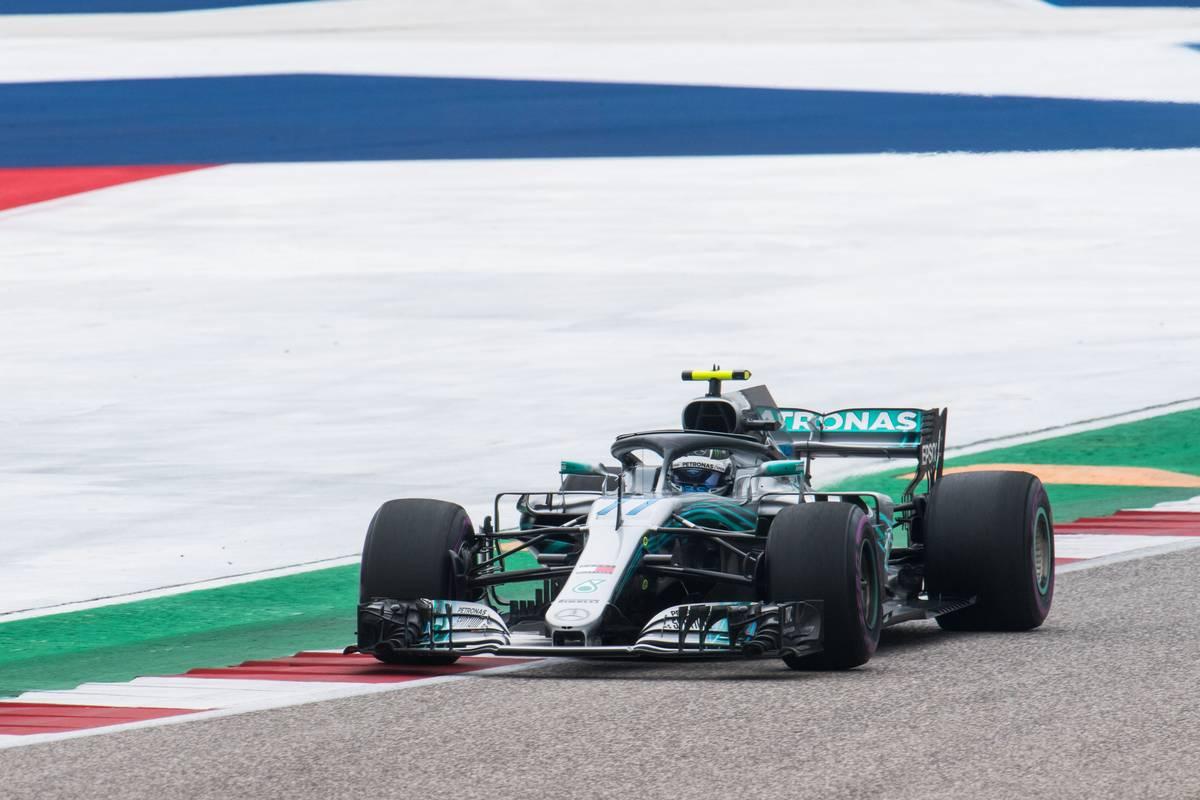 2018年F1第18戦アメリカGP バルテリ・ボッタス(メルセデス)