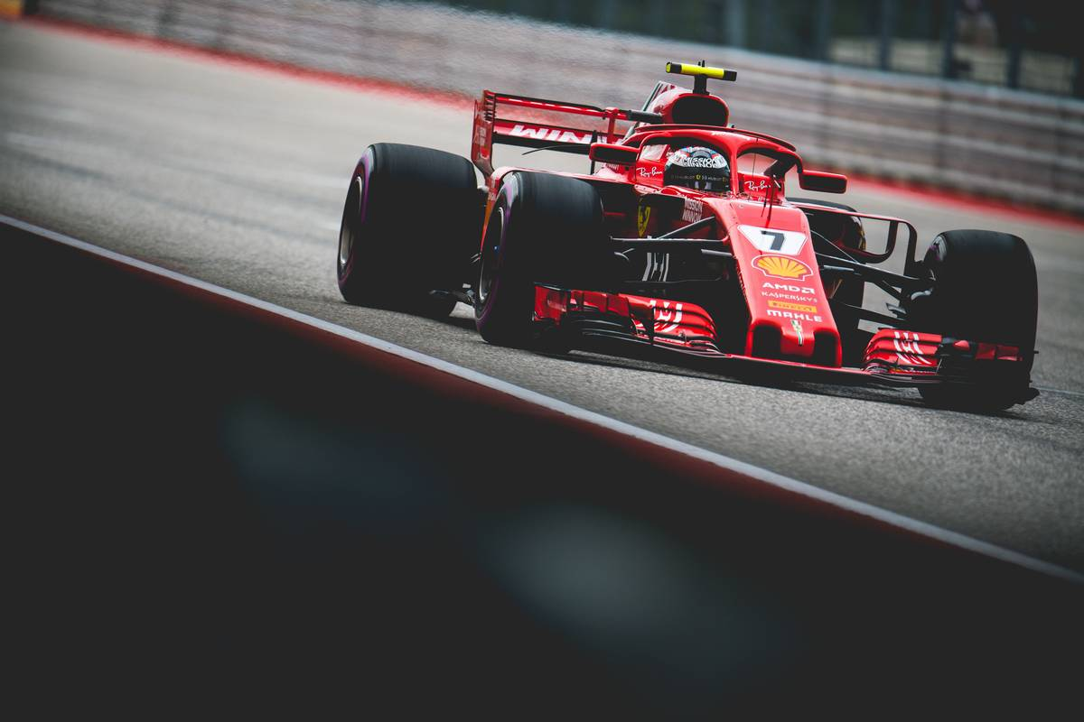2018年F1第18戦アメリカGP 3番手のキミ・ライコネン(フェラーリ)