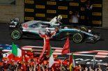 2018年F1第18戦アメリカGP 優勝したキミ・ライコネンと3位のルイス・ハミルトン