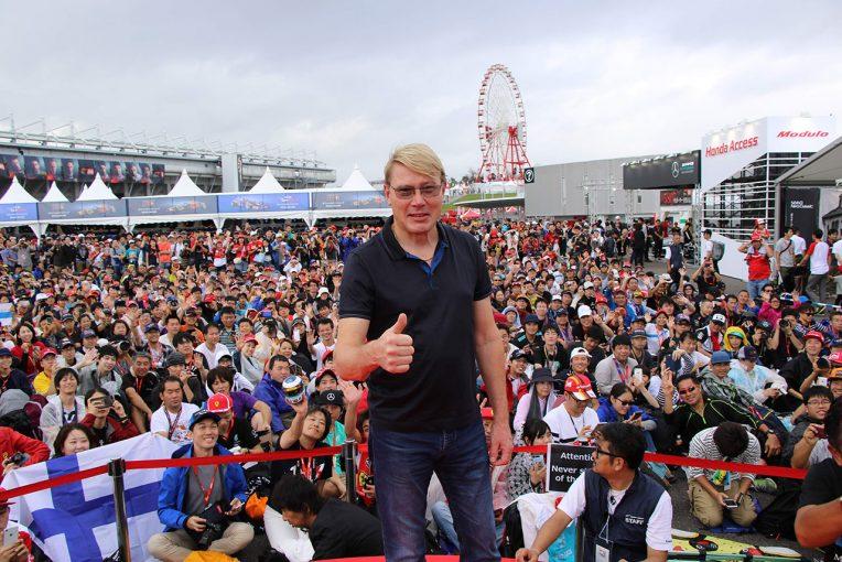 F1   鈴鹿サウンド・オブ・エンジンにミカ・ハッキネン来場決定。「日本のファンにもっと会いたい」